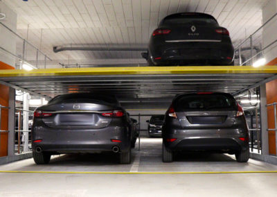 DUAL PLATFORMS, independent systems – 20 parking spaces.
