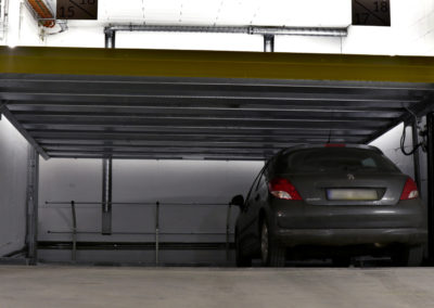Parking platforms MODULO SLOPE and MODULO POLO in the underground garage - 30 parking spaces.