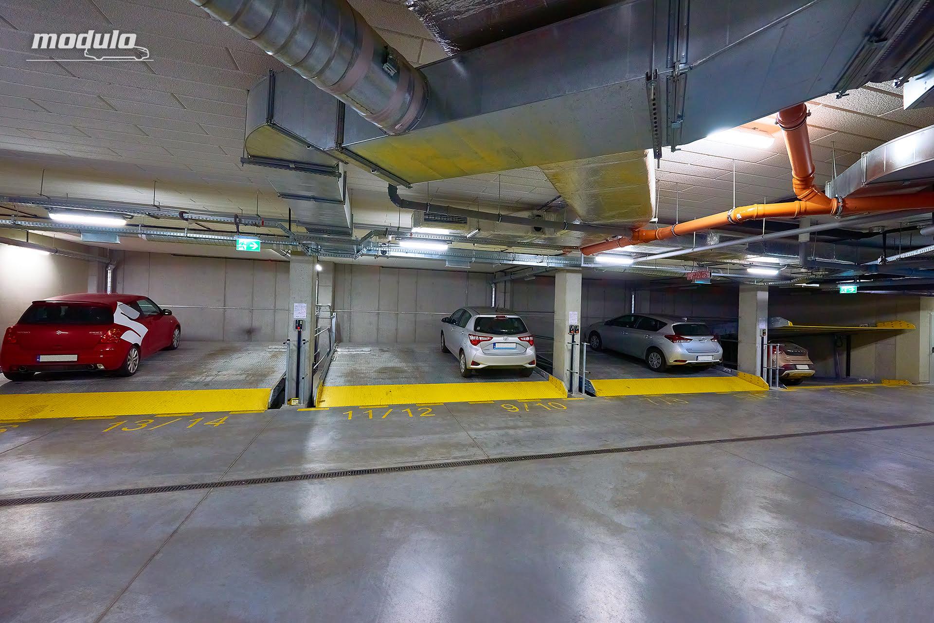 Platformy parkingowe niezależne MODULO Slope – 16 miejsc parkingowych