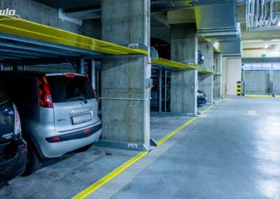 Platformy parkingowe niezależne MODULO Parker-C100 - 84 miejsca parkingowe / Platformy parkingowe zależne MODULO Slant - 20 miejsc parkingowych