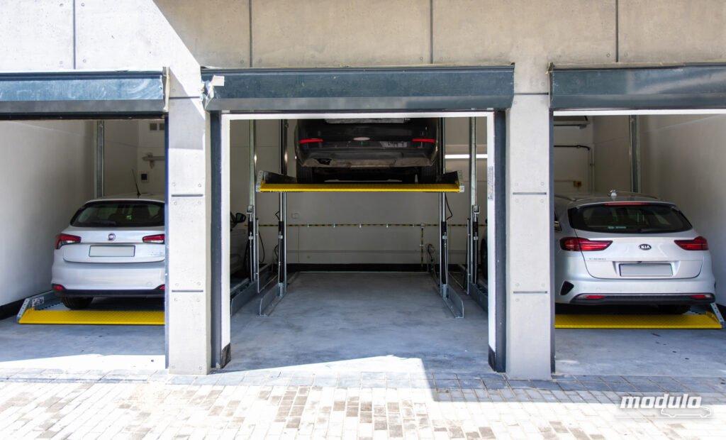 Platformy parkingowe zależne MODULO Polo - 18 miejsc parkingowych