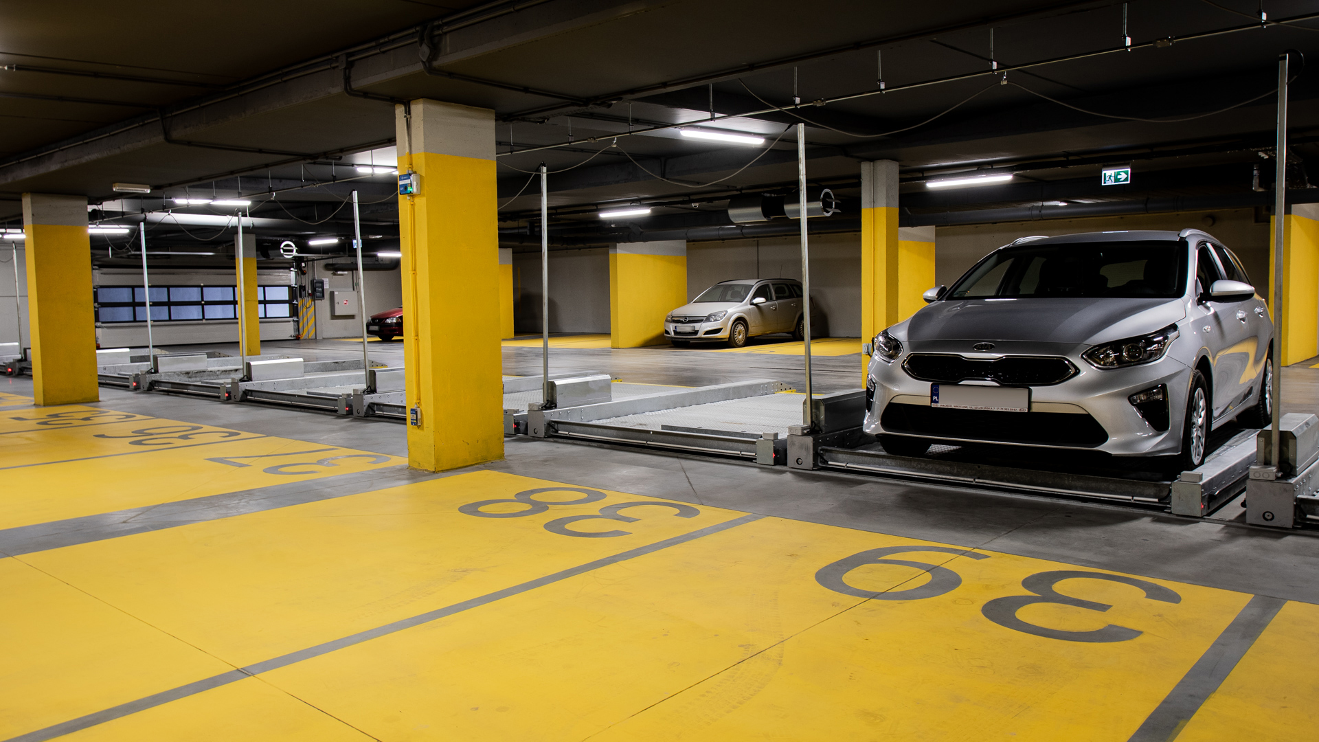 Platformy parkingowe przesuwne MODULO Slide - 14 miejsc parkingowych