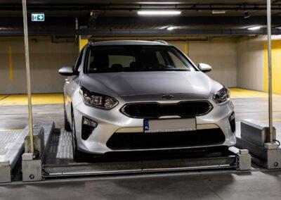 Platformy parkingowe przesuwne jednopoziomowe MODULO Pallet - 14 miejsc parkingowych